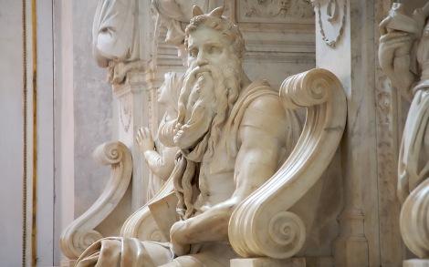 Moses Michelangelo statue